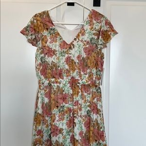 Stitch Fix exclusive floral maxi dress NWT